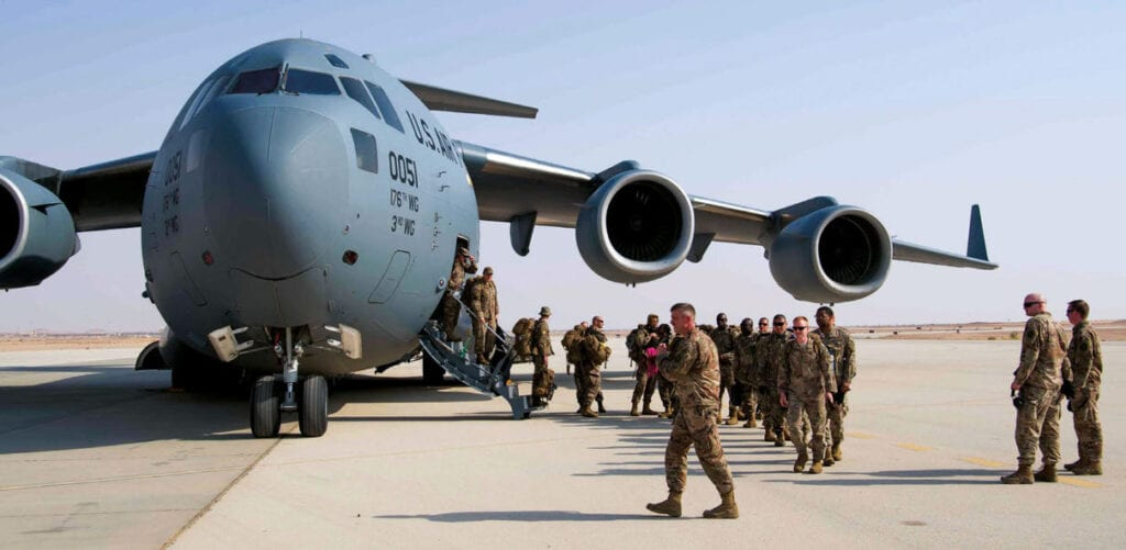 Airmen and Soldiers arrive at Prince Sultan AFB