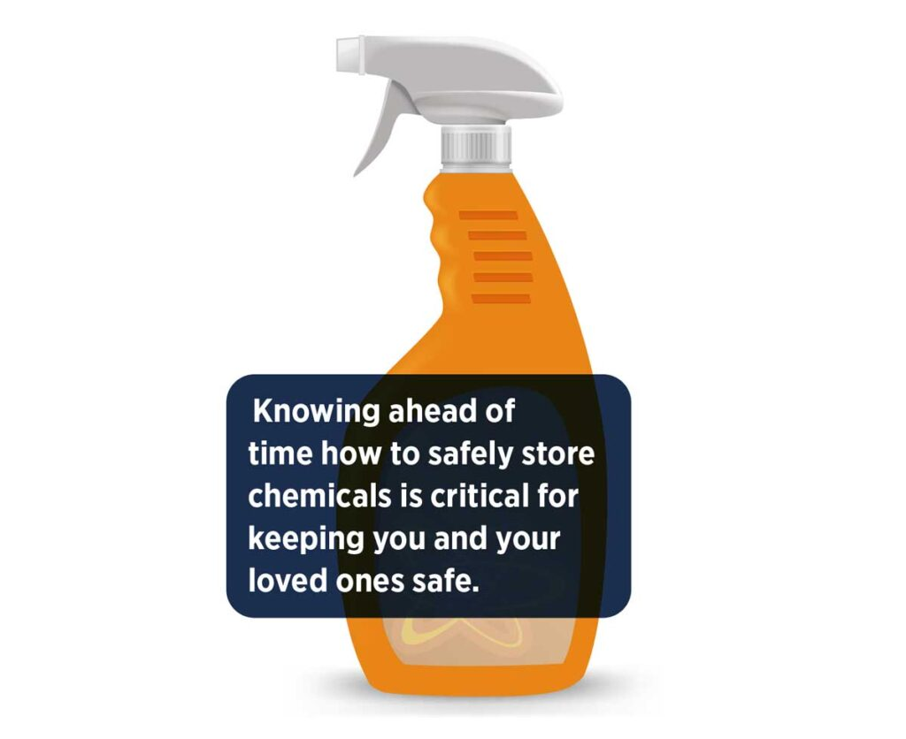 Knowing ahead of time how to safely store chemicals is critical for keeping you and your loved ones safe.